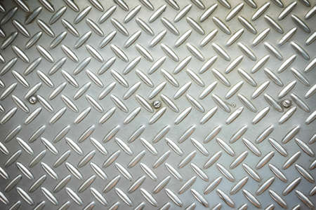 checker plate: Used checkered steel plates background Stock Photo