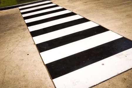 senda peatonal: Antecedentes del paso de peatones Foto de archivo