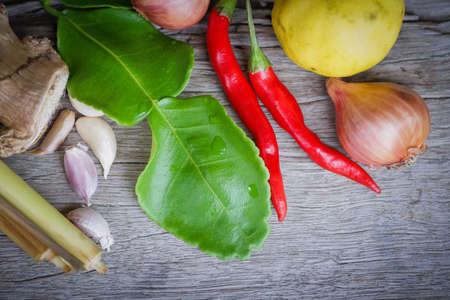 ingredient: Background of Thai spices ingredient Stock Photo