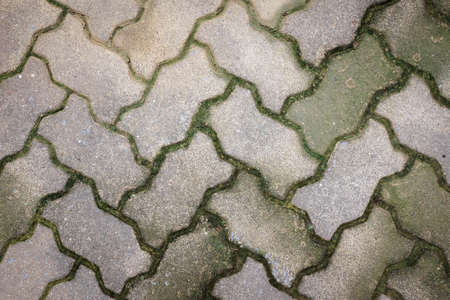 oldy cement bricks floor background Stock Photo