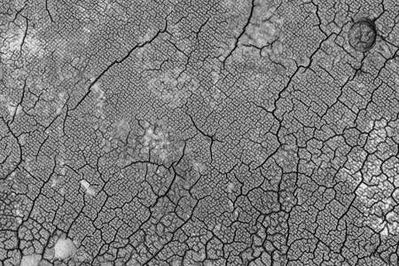 Old cracked rubber texture for abstract background - Black and White