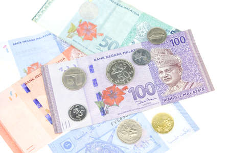Malaysia money isolated on white background