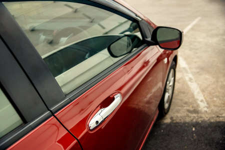 View from Side of Car  as background Stock Photo