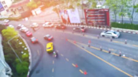 abstract blurred of traffic - Urban scene