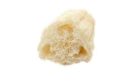 Close-up of Luffa Fiber Scrubs isolated on white background Stock Photo