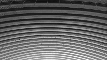 Storehouse ceiling as abstract background - Black and White