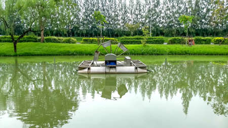 Chaipattana Low Speed Surface Aerator invented and developed by his Majesty the King Bhumibol Adulyadej of Thailand