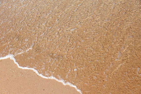 Sea water and sand beach texture background Stok Fotoğraf