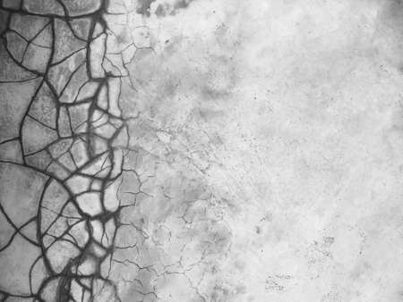 Cracked cement floor as background and frame