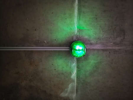 Car Parking lot sensor on the ceiling , Green light , Concept background