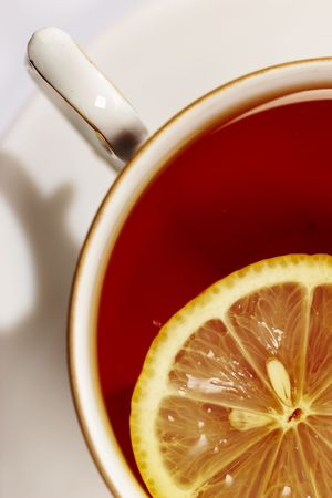 robustness: cup of tea with lemon, top�view