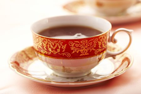cup of tea in rose color