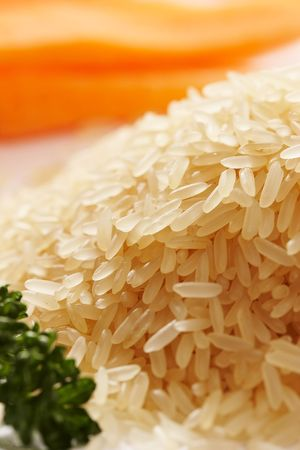 macro pic: hill of tipped rice photo