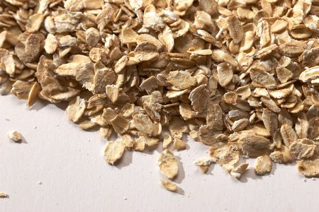 close up oaten flakes texture