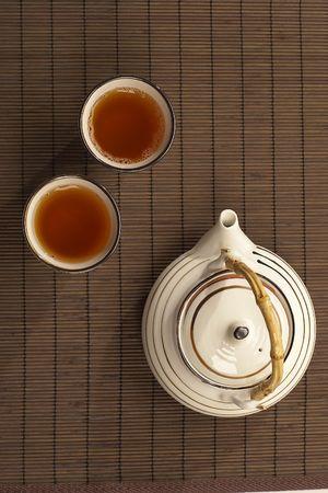 top view of tea ceremony