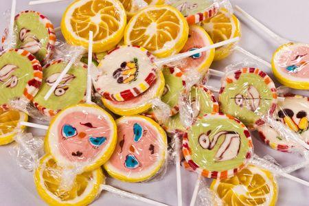 a lot of sugarplum, funny sweet lollipops