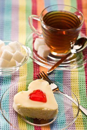 sweet: fancy cake with love simbol - heart photo