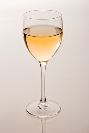 cutglass: drink series: white wine glass over white