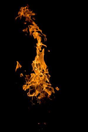 smolder: fire series: high flame over dark background