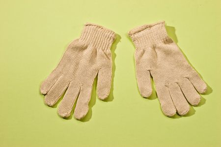 house series: house series: protective white textile gloves