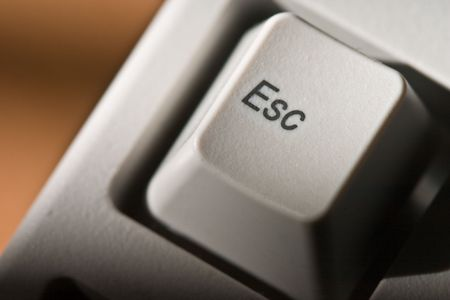 esc: computer series: keyboard key with esc sign Stock Photo