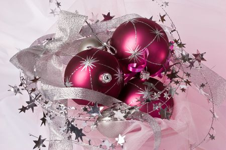 lacet: christmas series: still life with three pink balls