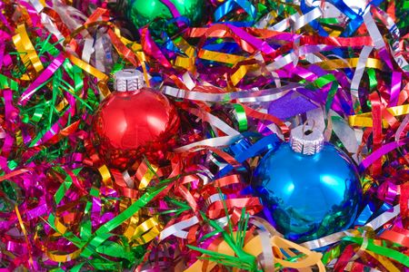 lacet: christmas still life with colored balls
