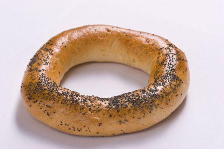 boublik: food series: bread, bagel with poppy seed
