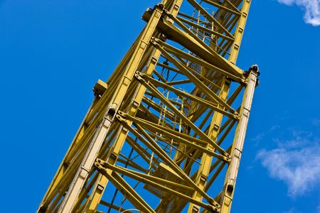 housebuilding: construction series: element of heavy duty crane Stock Photo