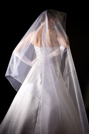 marriageable: young women in the veil and white dress