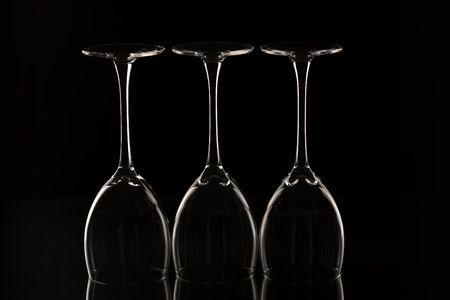 trotters: glass series: three trotters of wine bocal