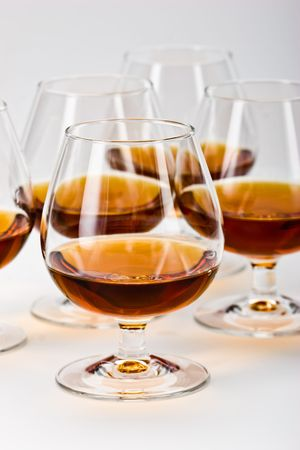 bocal: alcohol drink sereis: five bocal with cognac