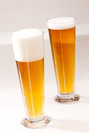 bocal: drink series: two glassy bocal with light beer