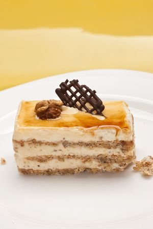 circassian: food series: pastry with chocolate and circassian walnut Stock Photo