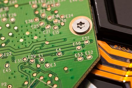 computer series: close up of electronic board Stock Photo - 6660474