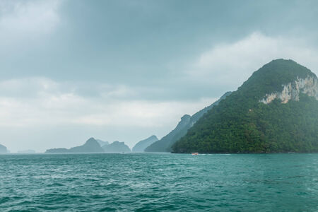 angthong: Rainly landscape of Angthong islands of Thailand