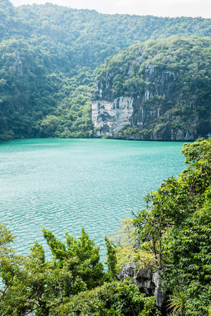 angthong: Emerald Lake at Angthong island, Thailand