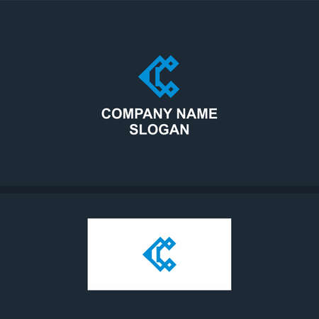 Vector - Letter C Icon Design Element