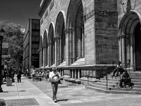 New Haven, Connecticut - June 4 2013: Street Scene in front of Yale University Art Gallery