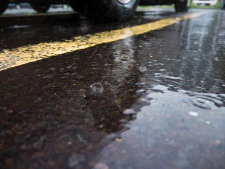 Regen op de stoep