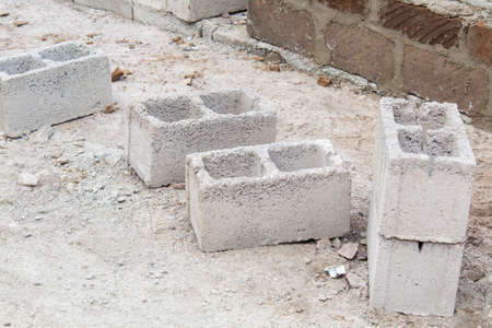the stones for construction in the street 版權商用圖片