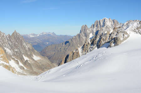 Summit of Mont Blanc massif, Italy Stock Photo
