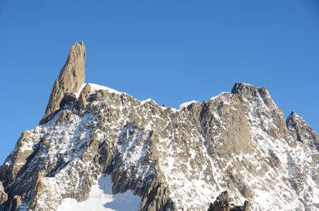blanc: Summit of Mont Blanc massif, Italy Stock Photo