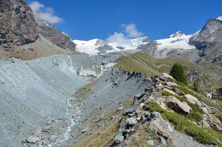Moraine of the glacier, Aosta Valley, Italy