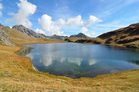 Mountain Lake Palasina, Aosta Valley, Italy Stock Photo