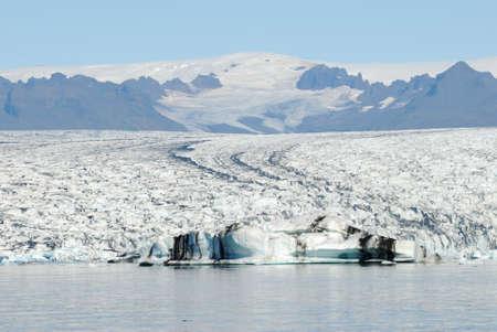 Icebergs floating in Jokulsarlon glacier lake, Iceland