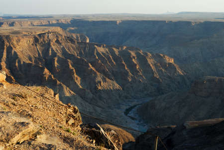 Fish River Canyon at sunset, Namibia Stock Photo