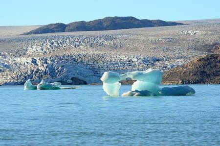 Icebergs floating in the Atlantic Ocean, Greenland