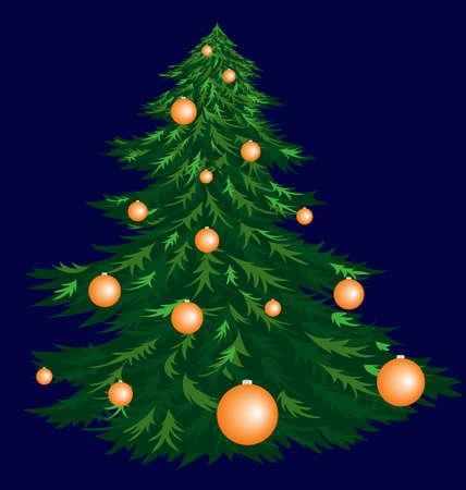 pinetree: Abeto de Navidad. Vector de imagen aislada