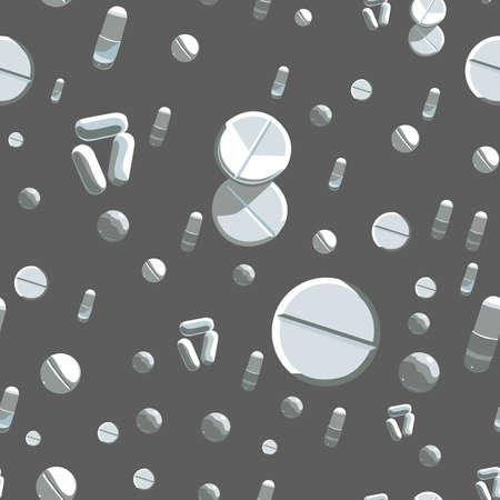 painkiller: Medicine background. seamless pattern Illustration